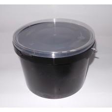 3L black bucket